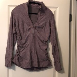 Lululemon Zip Pullover - heathered purple